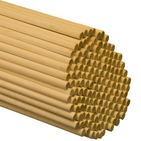 "Wooden Dowel Rods – 5/16"" x 36"" Unfinished Hardwood Sticks – For Crafts and DIY'ers – 25 Pieces – Woodpecker - Craft Suppliers"