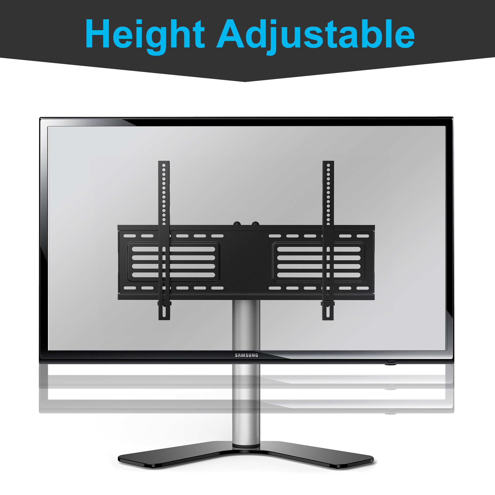 FITUEYES Universal Swivel Tabletop TV Stand with mount for 32 37 42 up to 65 inch Sony Lg Samsung Flat screen Tvs TT106001GB