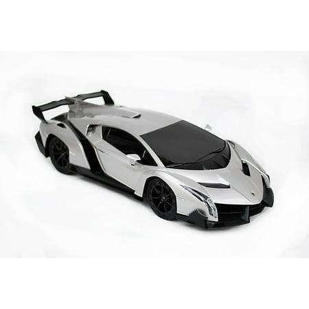 1 18 Scale Lamborghini Veneno Supercar Radio Remote Control Model Car Rc  Silver