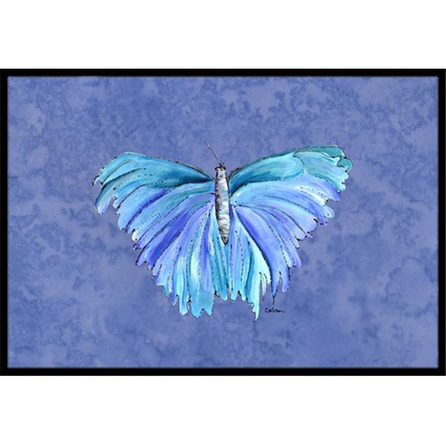 Carolines Treasures 8855JMAT 24 x 36 in. Butterfly On Slate Blue Indoor Or Outdoor Doormat - image 1 de 1