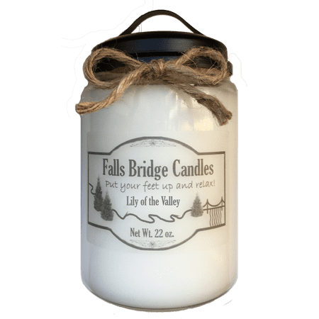 - Lily of the Valley Scented Jar Candle, Large 22-Ounce Soy Blend, Falls Bridge Candles