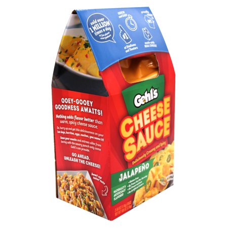 Gehl's Authentic Stadium Nacho Jalapeno Cheese Sauce, 50 OZ (2 Ct) - Nacho Dip Halloween