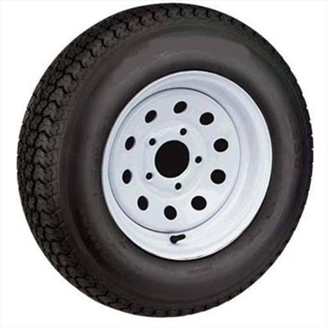 AMERICANA 3S636 Bias Ply Trailer Tires And Steel Trailer Wheel, 5 Lugs