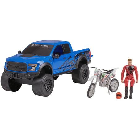 Adventure Force Outdoor Adventure Vehicle Set, Blue Ford Raptor ()