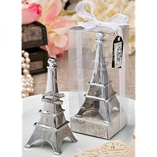 1 X Eiffel Tower Chrome Metal Ring Holder