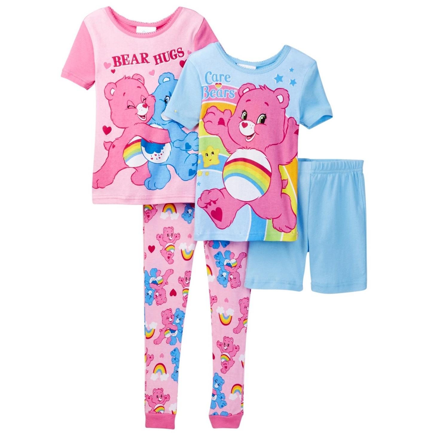 Care Bears Toddler Girls' 4pc Cotton Set