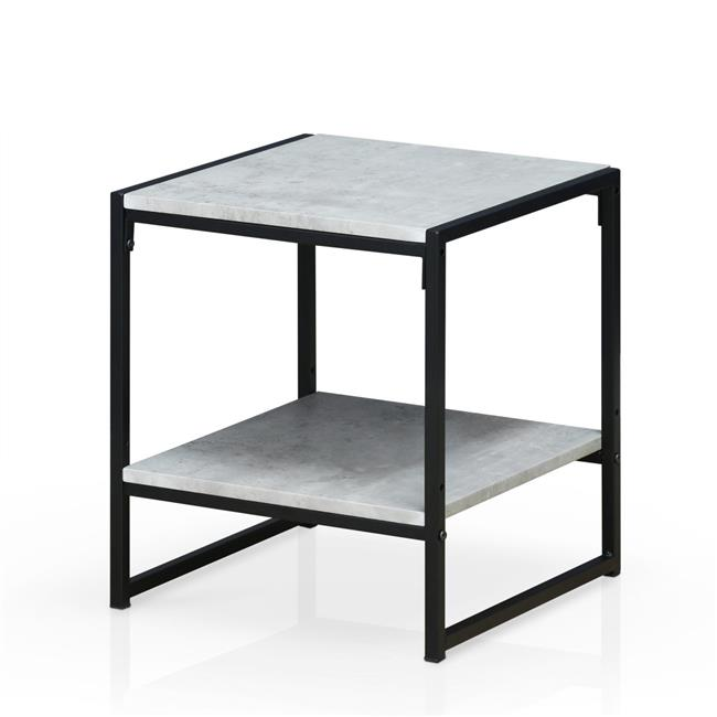 Modern 2-Tier End Table, Stone