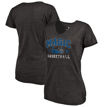 Orlando Magic Fanatics Branded Women's Pinstripes Hometown Collection Tri-Blend T-Shirt - Black