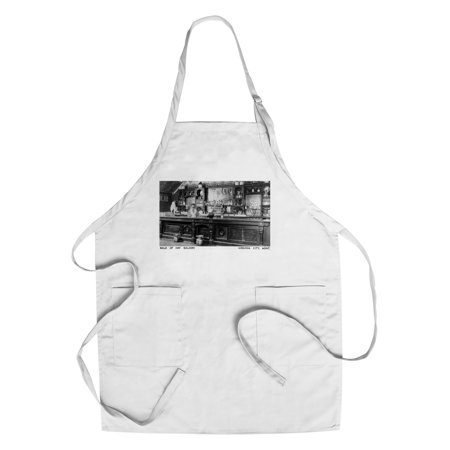 Virginia City, Montana - Interior View of Bale of Hay Saloon - Vintage Photograph (Cotton/Polyester Chef's Apron) - Virginia City Montana Halloween