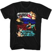 Street Fighter SHOW ME YOUR MOVES Large Cotton T-shirt Black Adult Men's Unisex Short Sleeve T-shirt