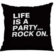 Checkerboard, Ltd Life is a Party Throw Pillow
