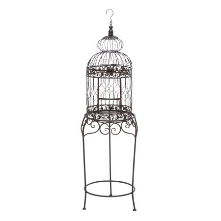 Victorian Style Bird Cage With Wrought Iron](Bird Cage Decoration)