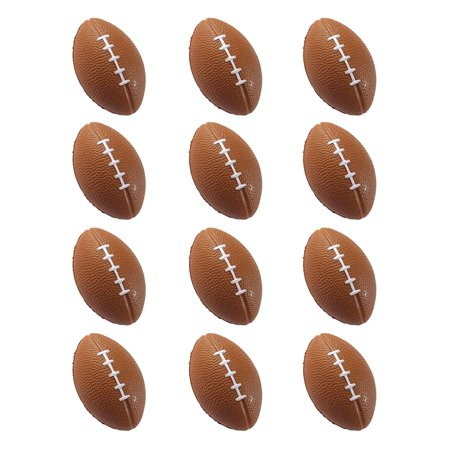 Mini Sports Balls for Kids Party Favor Toy, Soccer Ball, Basketball, Football, Baseball (12 Pack) Squeeze Foam for Stress, Anxiety Relief, Relaxation. (12 Pack.., By Wall2Wall (Football Party Ideas)