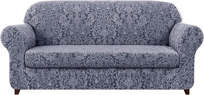 Subrtex 2 Piece Jacquard Damask Sofa Slipcovers Loveseat
