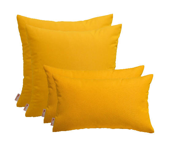 Choose Size Set of 4 In//Outdoor Square /& Rectangle Pillows Sunbrella Sunflower