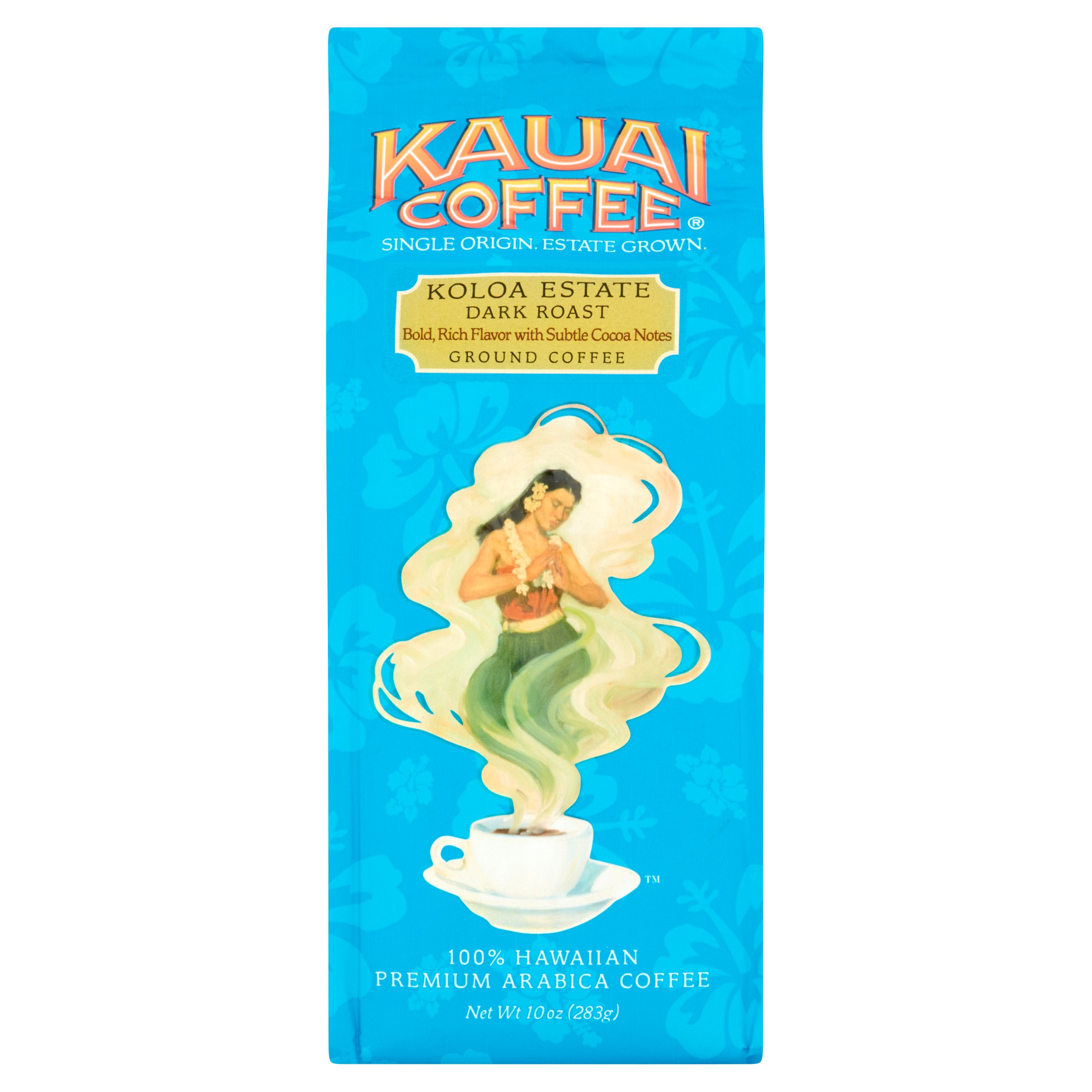 Kauai Coffee Koloa Estate Dark Roast Hawaiian Ground Coffee 10.0 oz Bag