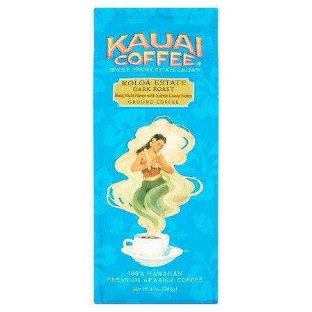 Kauai Coffee Koloa Estate Dark Roast Hawaiian Ground Coffee 10.0 oz Bag