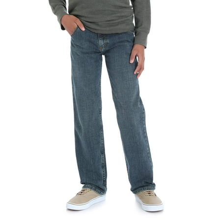 Wrangler Straight Fit Jean (Little Boys, Big Boys, Husky, & (Long Sleeve Kids Jeans)