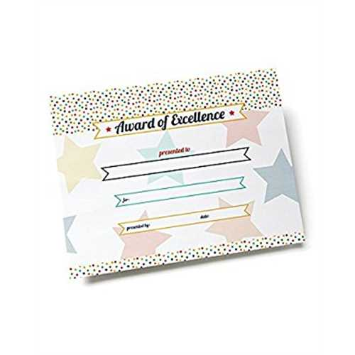 Multicolored Stars Certificate Paper - 25 count