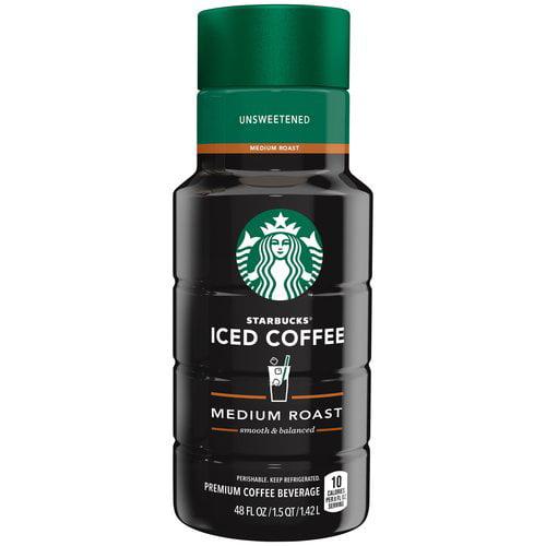 Starbucks Unsweetened Iced Coffee, 48 fl oz