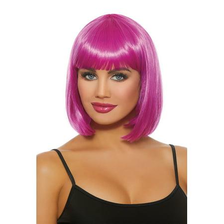 Dreamgirl Women's Mid Length Magenta Bob Wig - Magenta Rocky Horror Wig