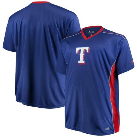 Men's Majestic Royal/Red Texas Rangers Big & Tall Memorable Moments T-Shirt