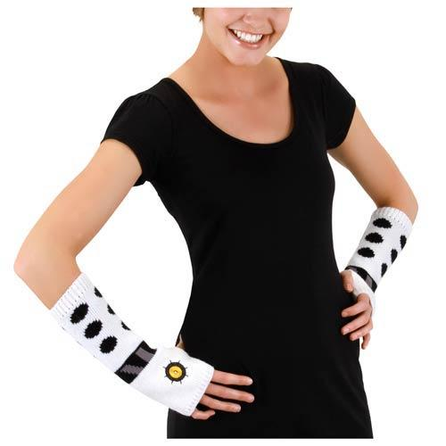 Doctor Who Knit Arm Warmers: White Dalek