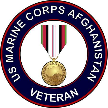 - 3.8 Inch U.S. Marine Corps Afghanistan Veteran Decal Sticker