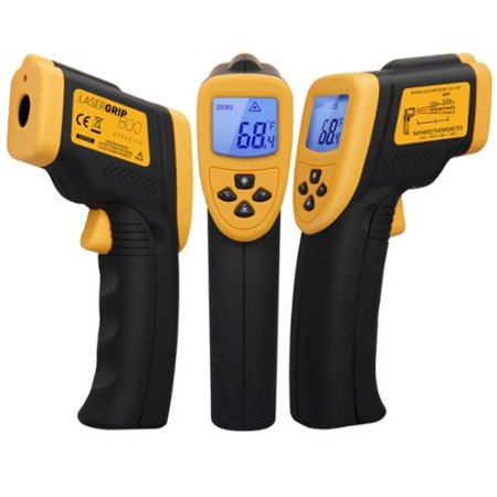Etekcity Lasergrip 800 Non-contact Digital Laser IR Infrared Thermometer  Measure Temperature from -50℃ to 750℃, Ye