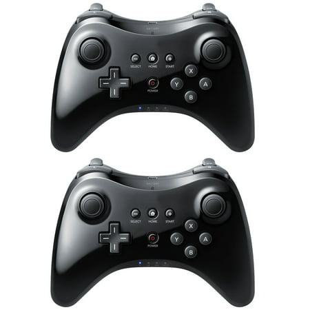 2 Black High Quality U Pro Bluetooth Wireless Controller for Nintendo Wii