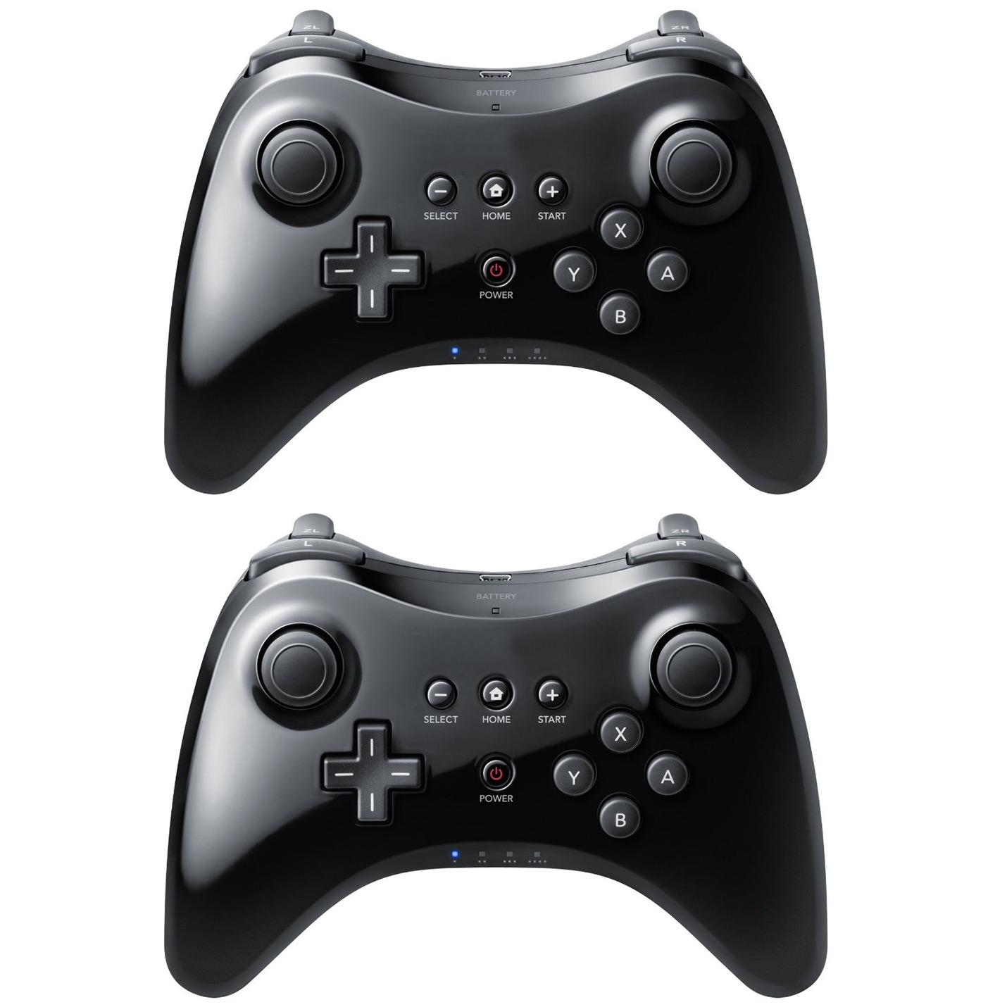 2 Black High Quality U Pro Bluetooth Wireless Controller for Nintendo Wii U