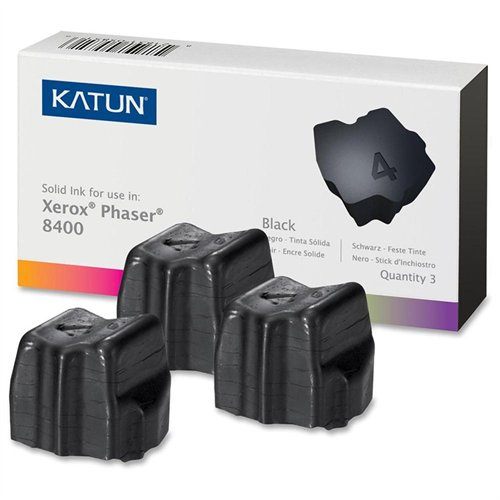 Katun 38707 [108r00604] Xerox Compatible Phaser 8400 Solid Ink Sticks - Black - Solid Ink - 3400 Page - 3 / Pack (38707_40)