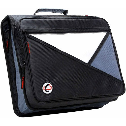 Case-It Universal 2-Inch Zipper Binder, Holds 13 Inch Laptop, Black, LT-007-BK