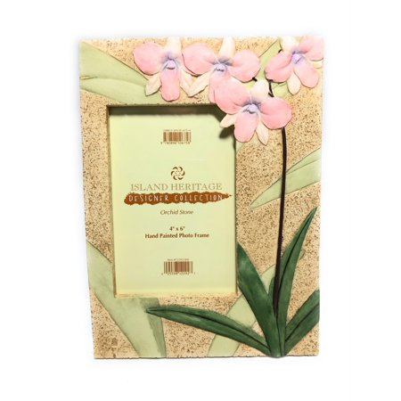 "Orchid Stone Photo Frame Designer - 6"" X 7"" Hawaii Gift 
