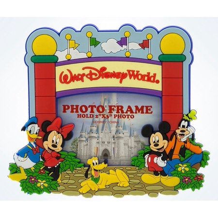 Disney Parks Walt Disney World Mickey & Pals Gate Photo Frame 2x3 Magnet New for $<!---->