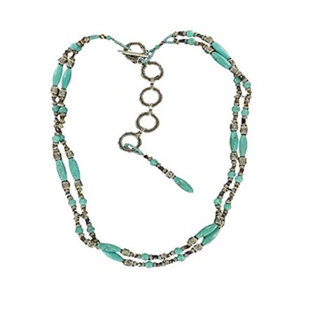 Ariat Accessories Women's Beaded Chain Belt XL Silver Turquoise Beaded Belt