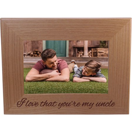 I Love That You're My Uncle 4-inch x 6-Inch Wood Picture Frame ()