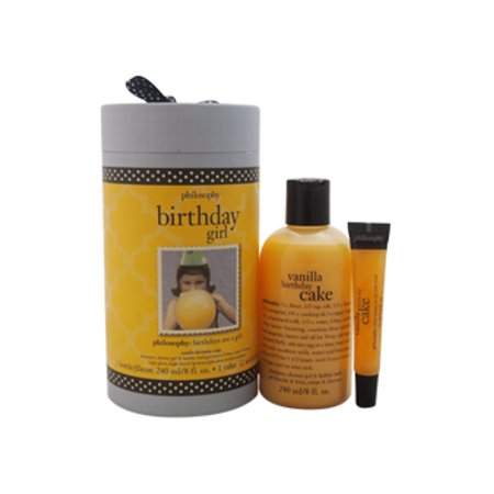Birthday Girl Vanilla Cake Philosophy 2 Pc Kit 8oz Shampoo Shower