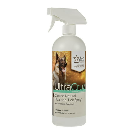 UltraCruz Canine Natural Flea and Tick Spray for Dogs, 32 oz