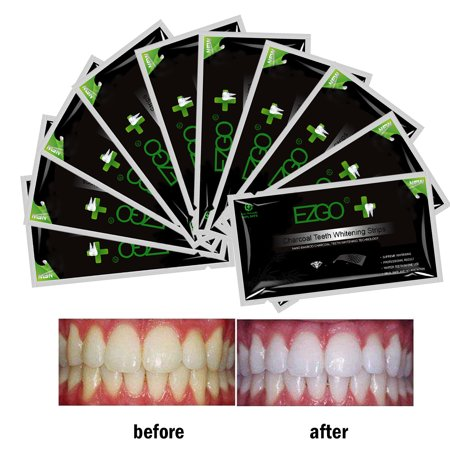 28pcs Bamboo Charcoal  Advanced Teeth Whitening Strips  Strong Adhesion Strip  Sparkling White Whitestrips