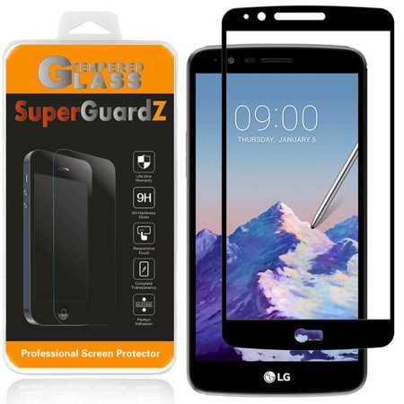 For LG Stylo 3 Plus - SuperGuardZ Full Cover Tempered Glass Screen Protector, Edge-To-Edge, 9H, Anti-Scratch, Anti-Bubble, (Lg Stylo Stuck On Metro Pcs Screen)