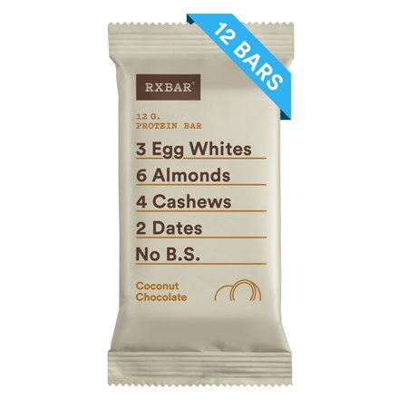RXBAR, Coconut Chocolate, 1.83 Oz, 12 Ct, Gluten Free, Protein