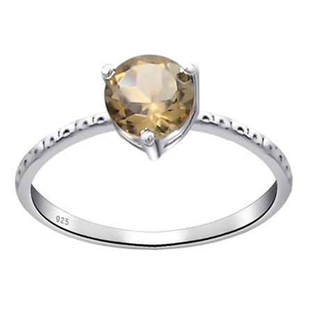 Orchid Jewelry 0.45 Carat Brown Smoky Quartz Ring For Women by Orchid Jewelry