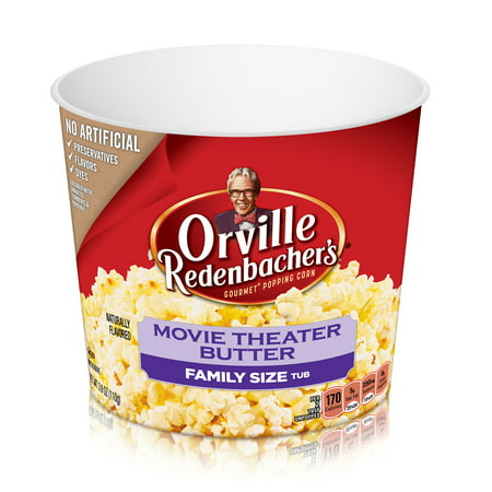 Orville Redenbacher's Movie Theater Butter Popcorn Tub, 3.9 Ounce - Halloween Witch Hand Popcorn