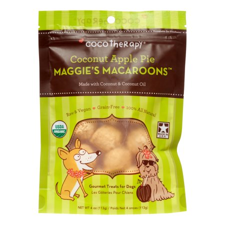 Coco Therapy Five Star Maggie's Macaroons Coconut Apple Pie Dog Treats, 4 Oz](Halloween Moon Pie Treats)