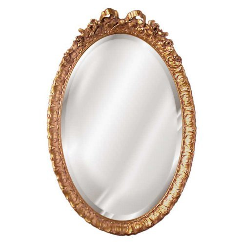 Hickory Manor House Oval Bow and Rose Mirror - 18W x 28H in.