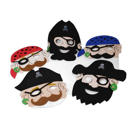 Lot of 12 Foam Pirate Party Masks Costume Dress Up Party Favors - Dinosaur Foam Masks