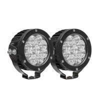 Westin Axis LED Auxiliary Light 4.75 inch Round Spot w/3W Osram (Set of 2) - Black