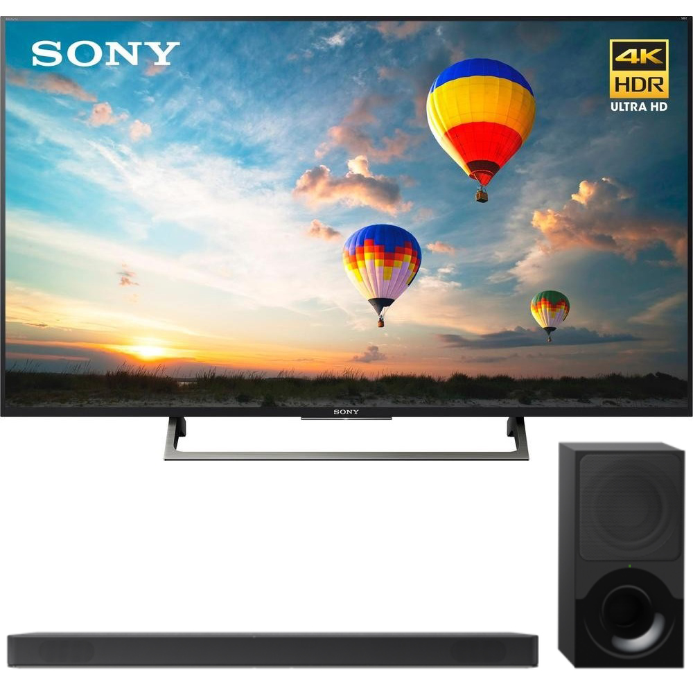 "Sony XBR55X800E 55"" 16:9 4K HDR Edge Lit LED UHD LCD Android TV with Google Home Compatibility 3840x2160 & Sony HTX9000F 2.1Ch 4K HDR Compatible Dolby Atmos Soundbar with Bluetooth"