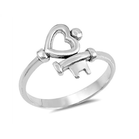 Key To My Heart Ring (Sterling Silver Key To My Heart)